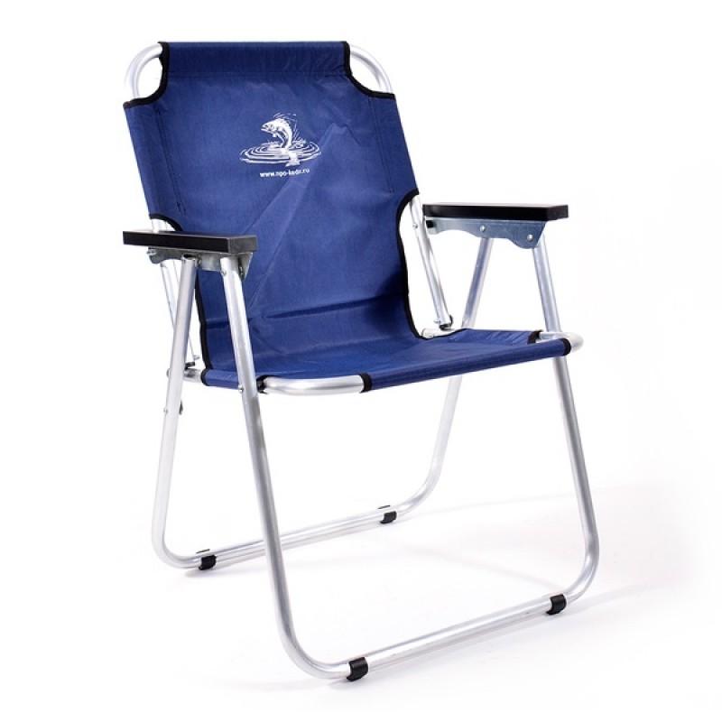Кресло-шезлонг КЕДР AKS-08 (алюминий, синий)
