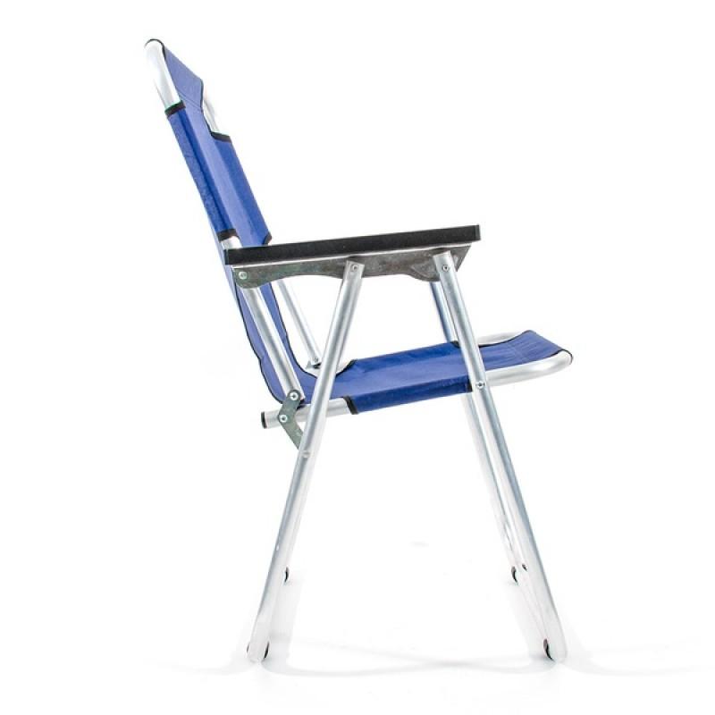 Кресло-шезлонг КЕДР AKS-08 (алюминий, синий) (фото 3)