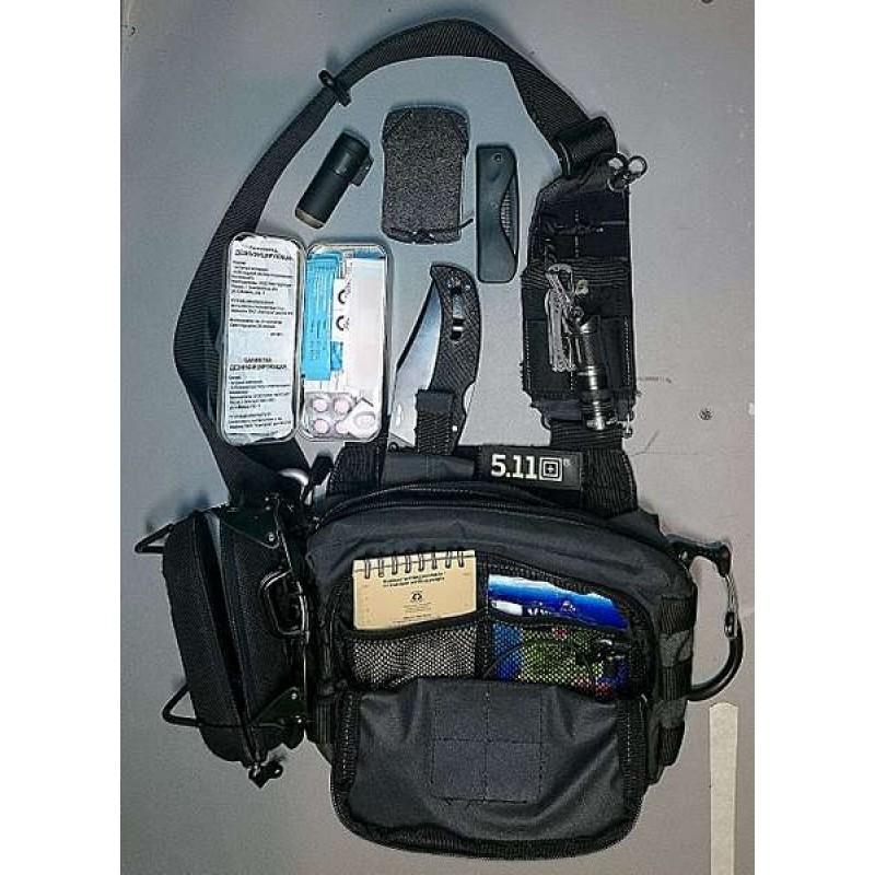 Тактическая сумка 5.11 Tactical 2 BANGER BLAСK (019) (фото 3)
