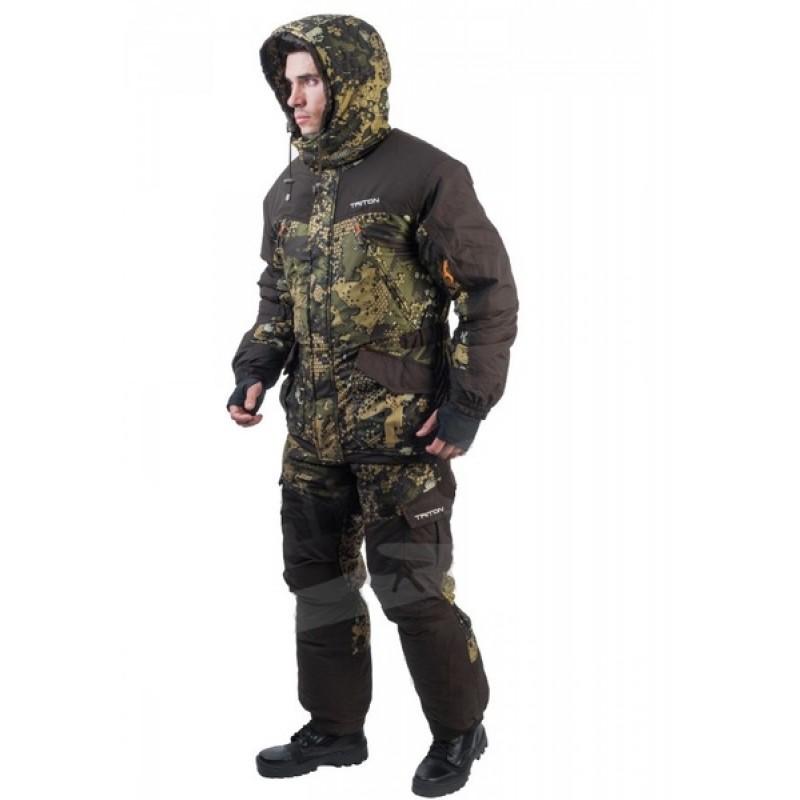 Зимний костюм для охоты и рыбалки TRITON Горка -40 (Вельбоа, Бежевый) Брюки