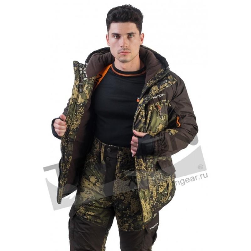 Зимний костюм для охоты и рыбалки TRITON Горка -40 (Вельбоа, Бежевый) Брюки (фото 2)