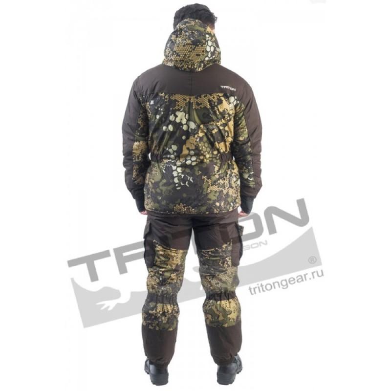 Зимний костюм для охоты и рыбалки TRITON Горка -40 (Вельбоа, Бежевый) Брюки (фото 3)
