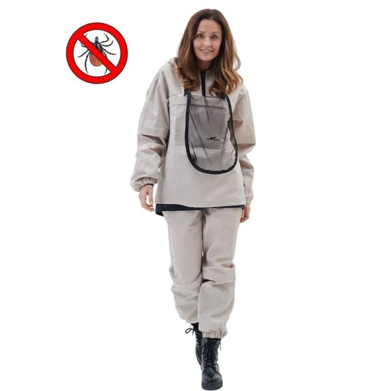 Женский противоэнцефалитный костюм KATRAN СТРАЖ (Твил, бежевый) (фото 2)