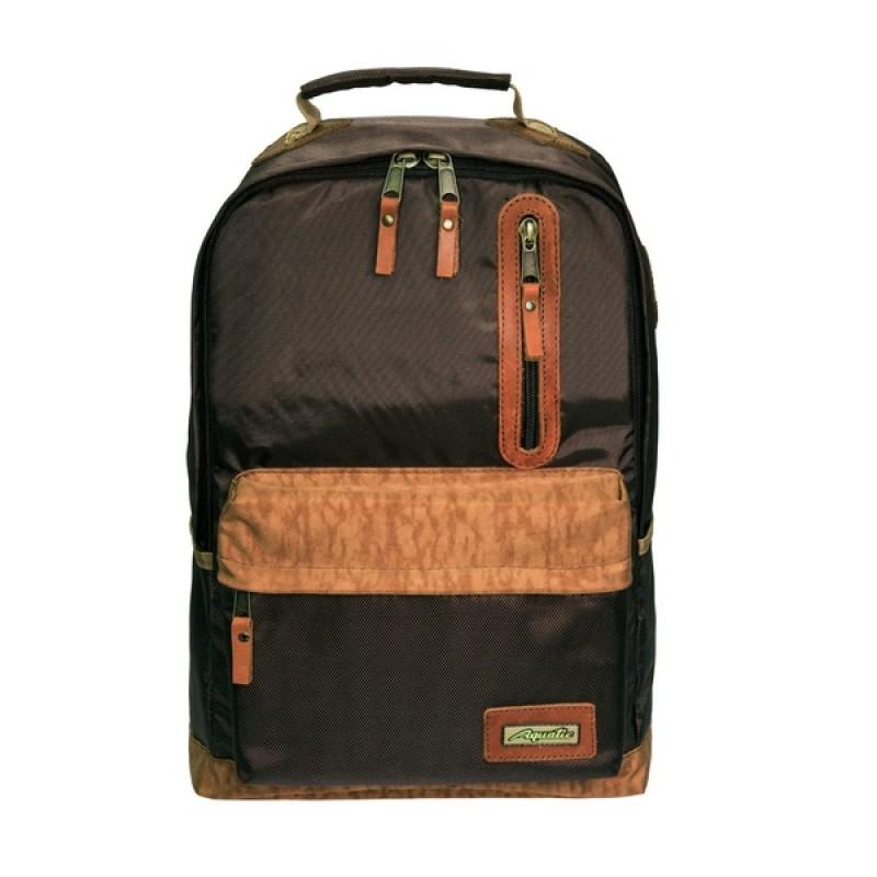 Рюкзак Aquatic Р-26ТКРДК (городской, темно-коричневый с рыжим клапаном)