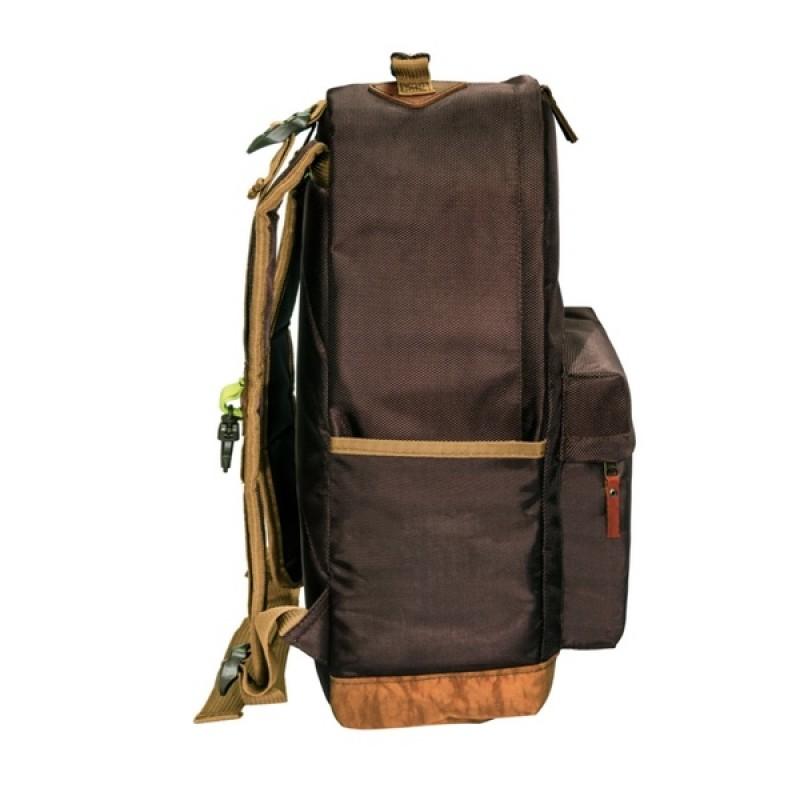 Рюкзак Aquatic Р-26ТКРДК (городской, темно-коричневый с рыжим клапаном) (фото 2)