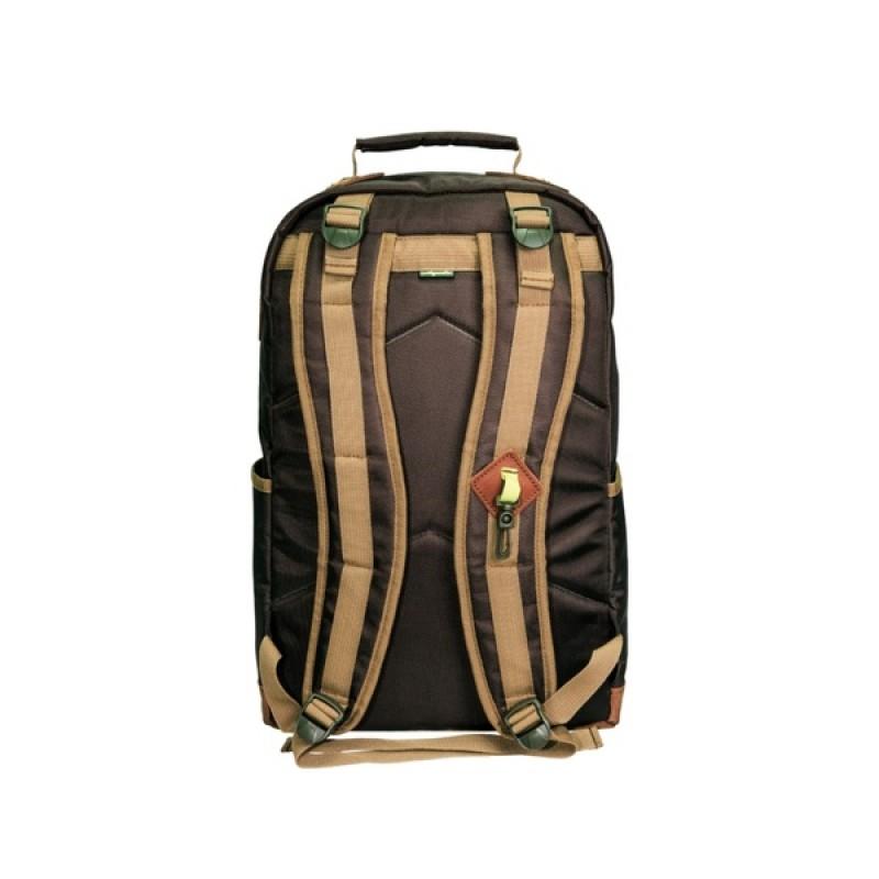 Рюкзак Aquatic Р-26ТКРДК (городской, темно-коричневый с рыжим клапаном) (фото 3)