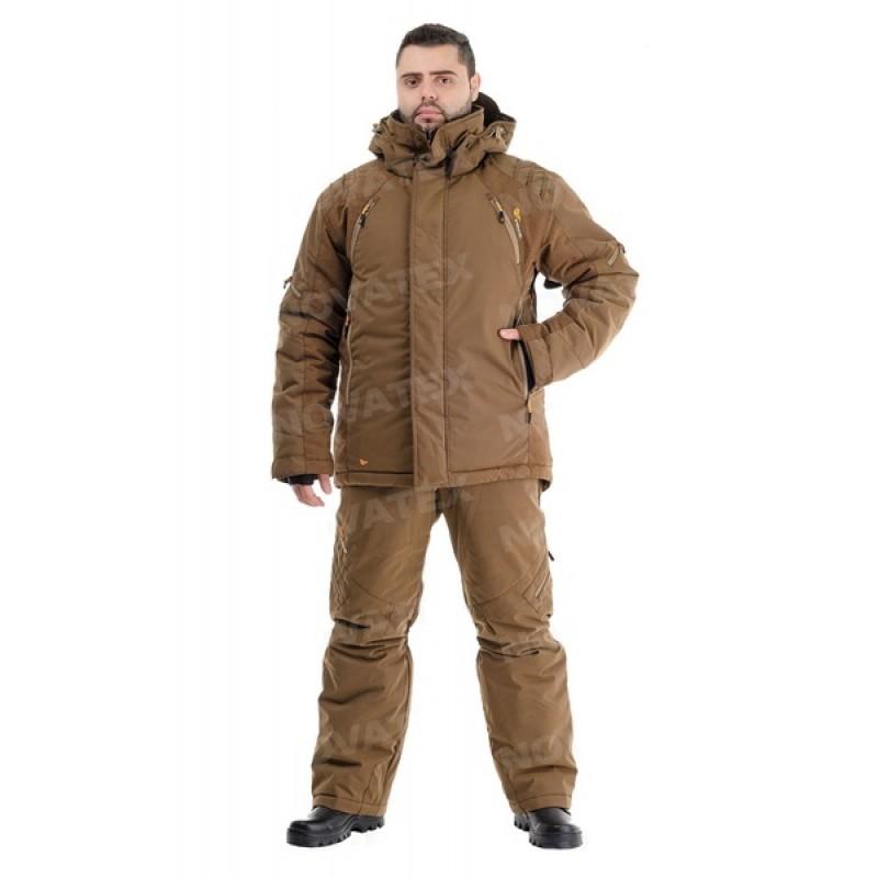 Зимний костюм для охоты «Выстрел» -35° (графф, коричневый) PRIDE