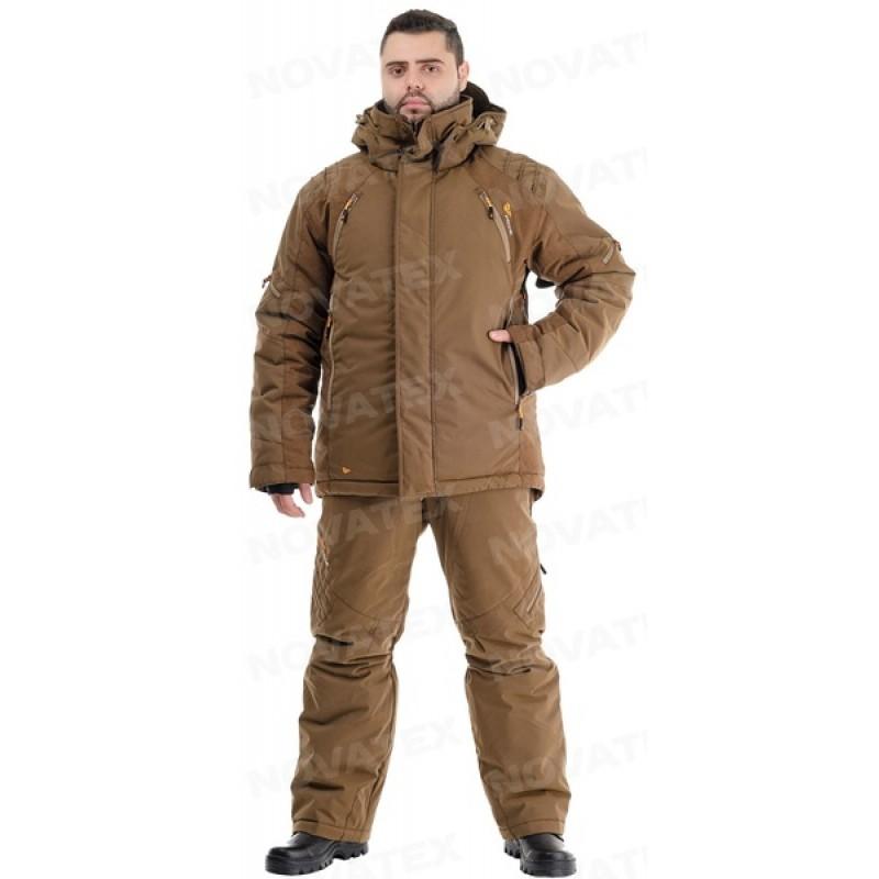 Зимний костюм для охоты «Выстрел» -35° (графф, коричневый) PRIDE (фото 2)