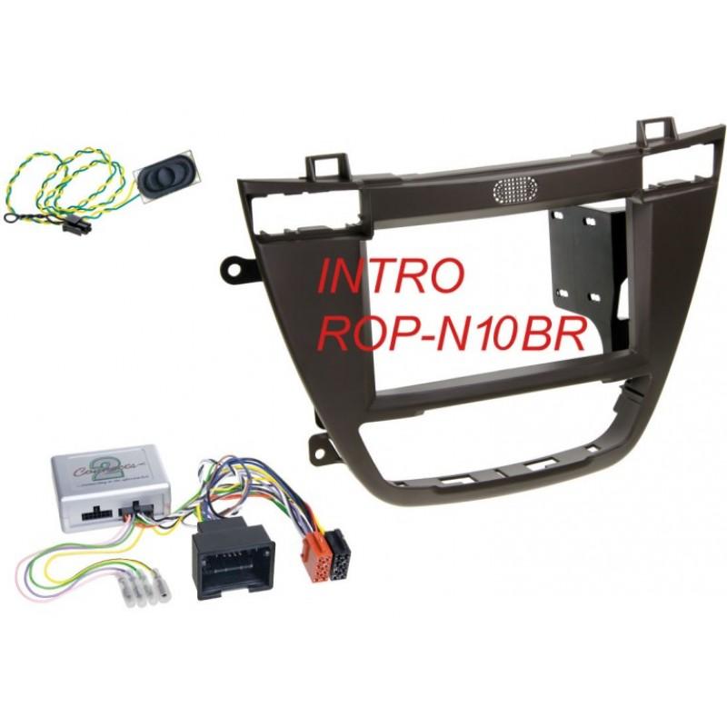 Переходная рамка Intro ROP-N10BR для Opel Insignia 2008+ 2DIN Brown (крепеж)