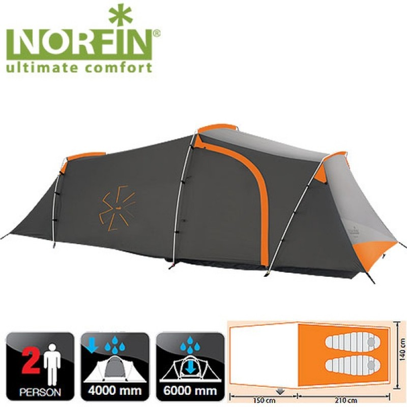 Палатка Norfin OTRA 2 ALU NS (алюминиевые дуги) (фото 2)