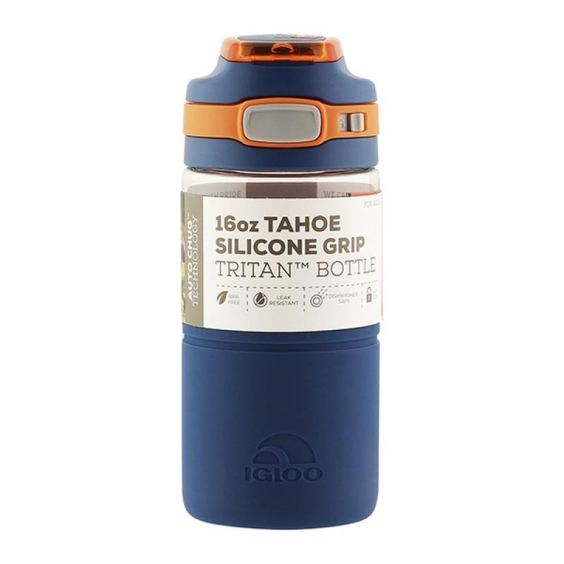 Пластиковая бутылка для воды IGLOO TAHOE Silicone 16 OZ/BLU