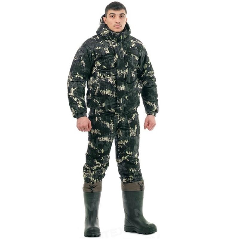 Зимний костюм для охоты и рыбалки «Вепрь» (плащевая, карта) КВЕСТ (фото 2)
