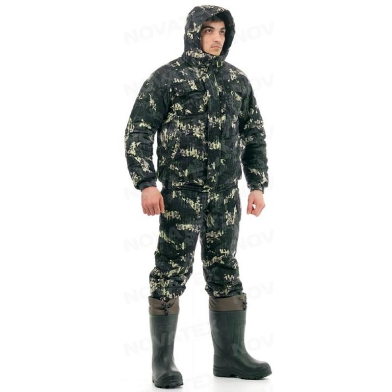 Зимний костюм для охоты и рыбалки «Вепрь» (плащевая, карта) КВЕСТ (фото 3)