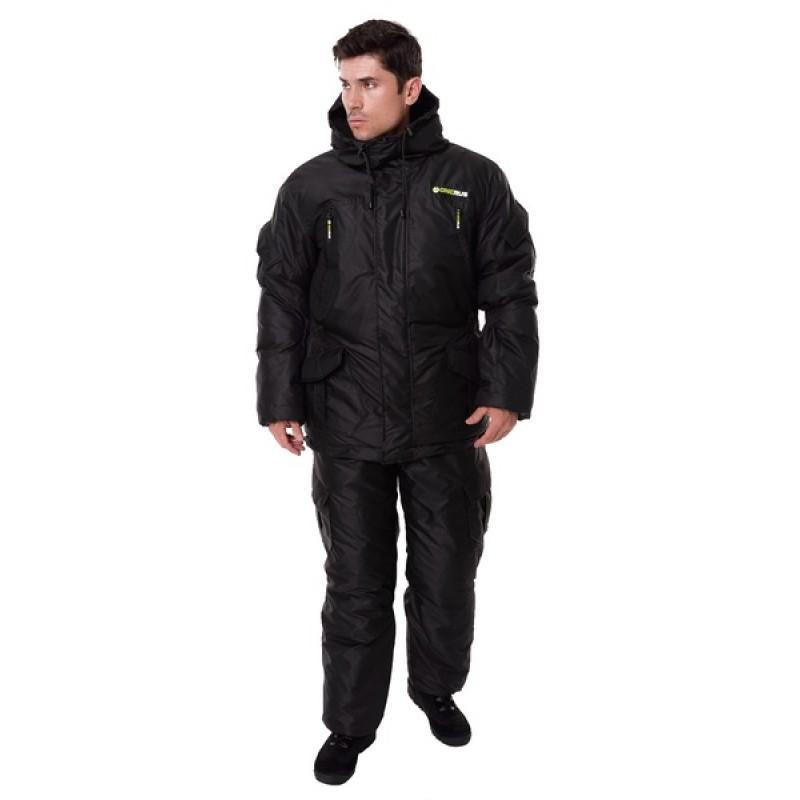 Зимний костюм для охоты и рыбалки ONERUS Горный -45 (Таслан, Черный) Полукомбинезон