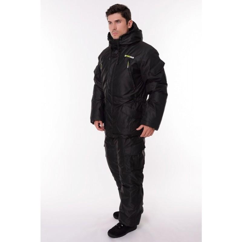 Зимний костюм для охоты и рыбалки ONERUS Горный -45 (Таслан, Черный) Полукомбинезон (фото 2)