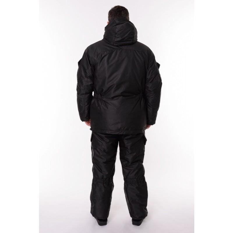 Зимний костюм для охоты и рыбалки ONERUS Горный -45 (Таслан, Черный) Полукомбинезон (фото 3)