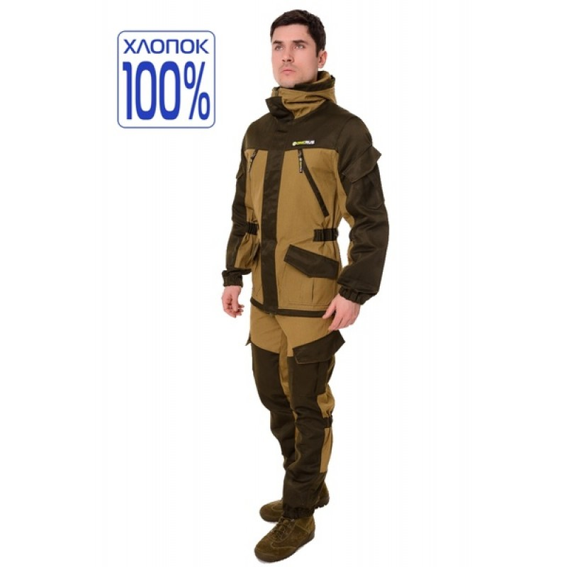 Летний костюм ONERUS Горный на молнии (Палатка, светлый Хаки)