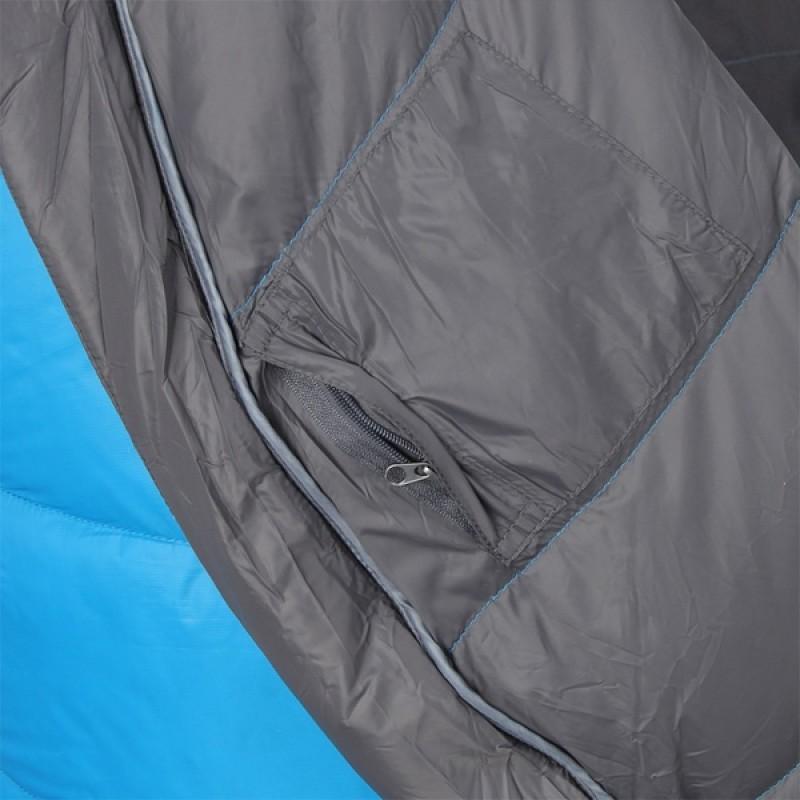 Спальный мешок СПЛАВ Adventure Light 205x80x50 (голубой, пуховый) (фото 3)