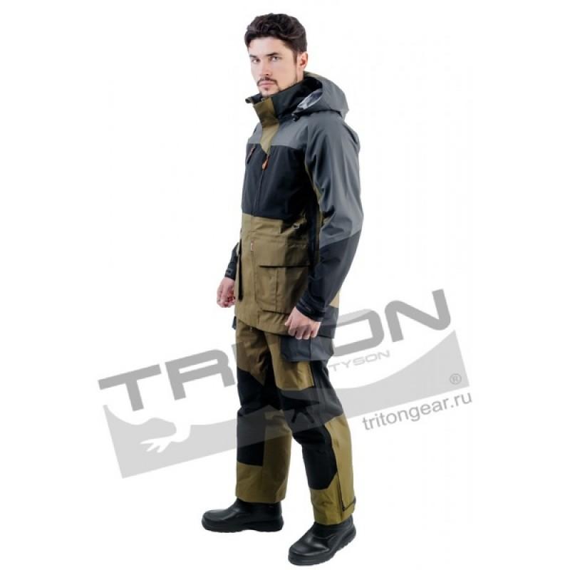 Летний костюм для охоты и рыбалки TRITON Азимут (Таслан, зеленый) (фото 3)