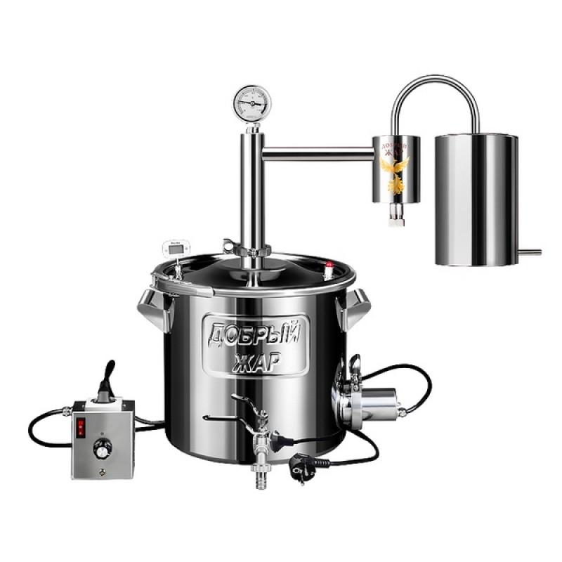 Самогонный аппарат (дистиллятор) Добрый жар ДОМАШНИЙ 30 литров (съемный ТЭН)