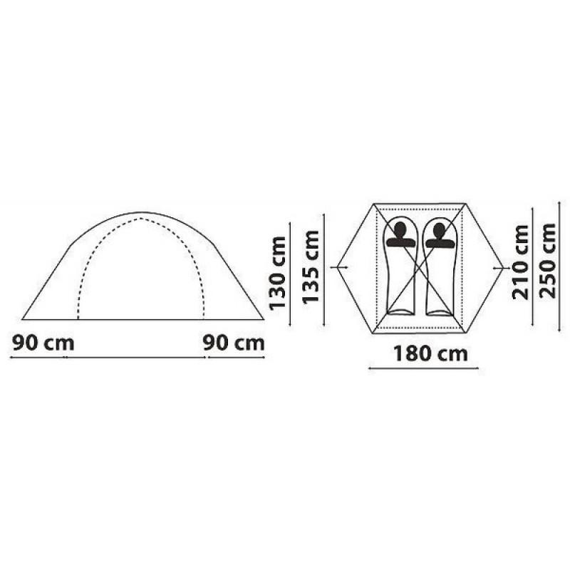 Палатка Canadian Camper IMPALA 2 (цвет royal дуги 8,5 мм) (фото 2)