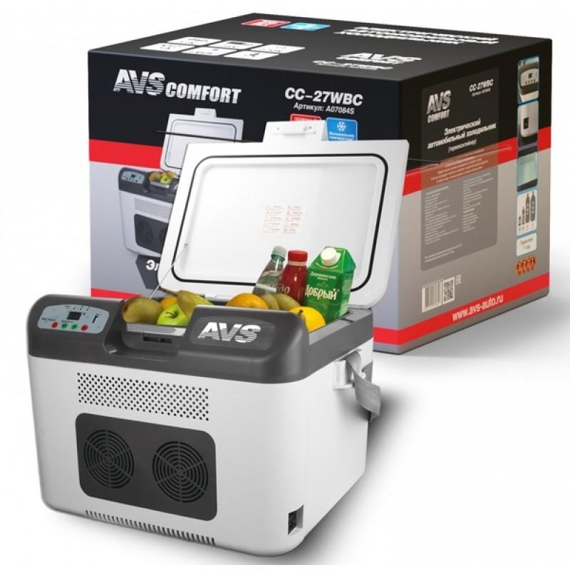 Автомобильный холодильник AVS CC-27WBC (27л 12В/24В/220В) (фото 2)
