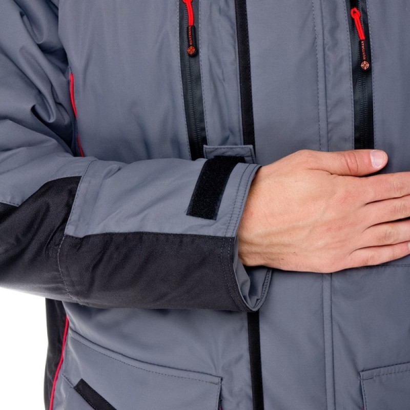 Зимний костюм для рыбалки Siberia -45°С (Серый, Breathable) Huntsman (фото 3)