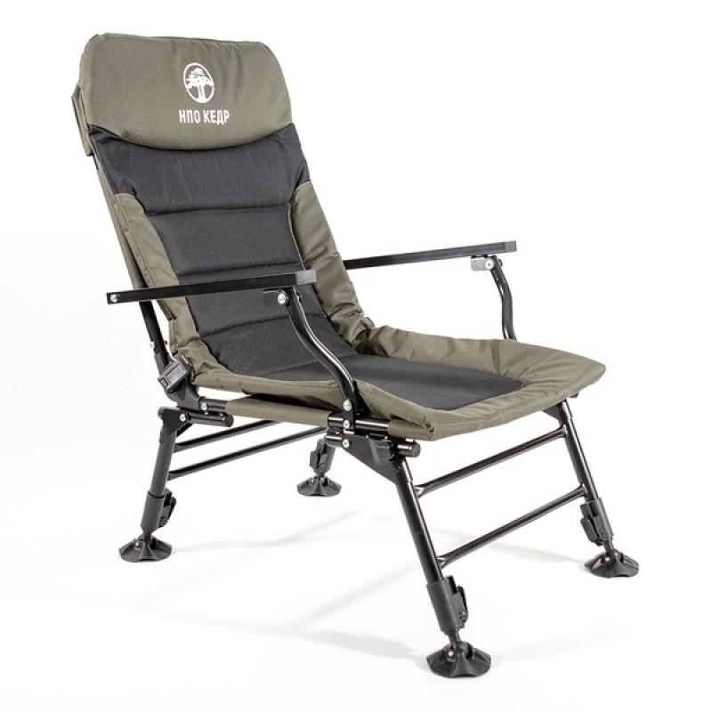 Кресло карповое КЕДР с подлокотниками SKC-01 (сталь)