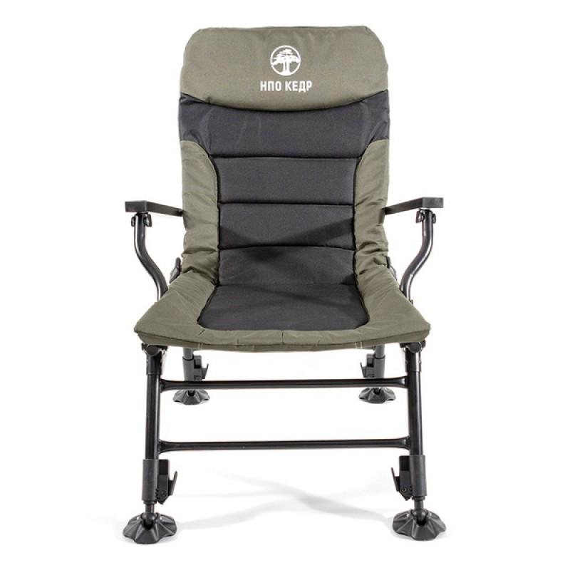 Кресло карповое КЕДР с подлокотниками SKC-01 (сталь) (фото 2)