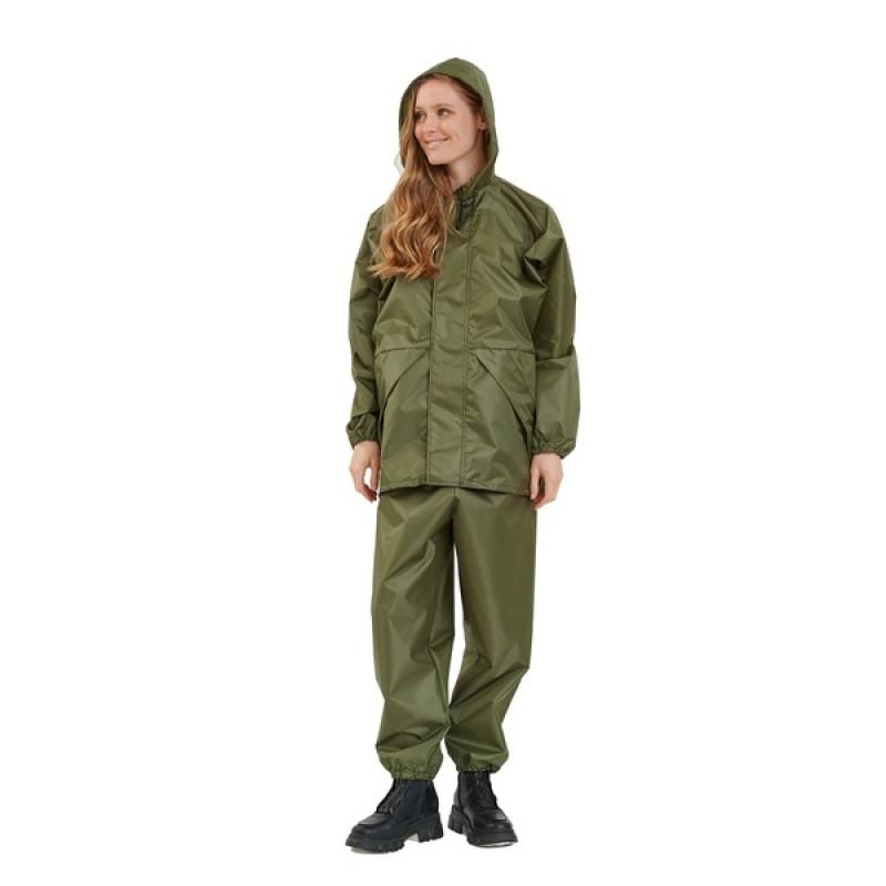 Женский легкий костюм-дождевик KATRAN ЦИКЛОН (Оксфорд, хаки) (фото 2)