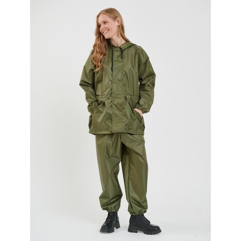Женский легкий костюм-дождевик KATRAN ЦИКЛОН (Оксфорд, хаки) (фото 3)