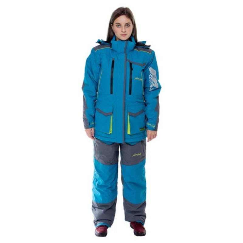 Женский костюм для рыбалки Siberia -35°С (Бирюза, Breathable) Huntsman