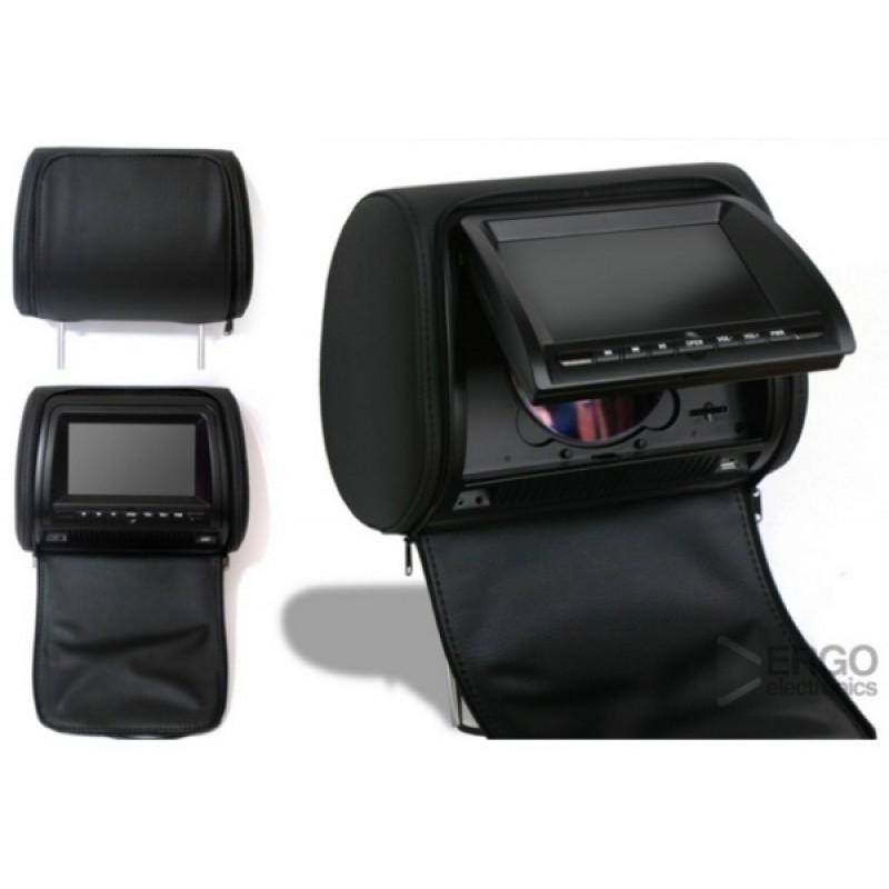 Комплект подголовников с DVD проигрывателями 7 ERGO ER700HD Черный (фото 2)
