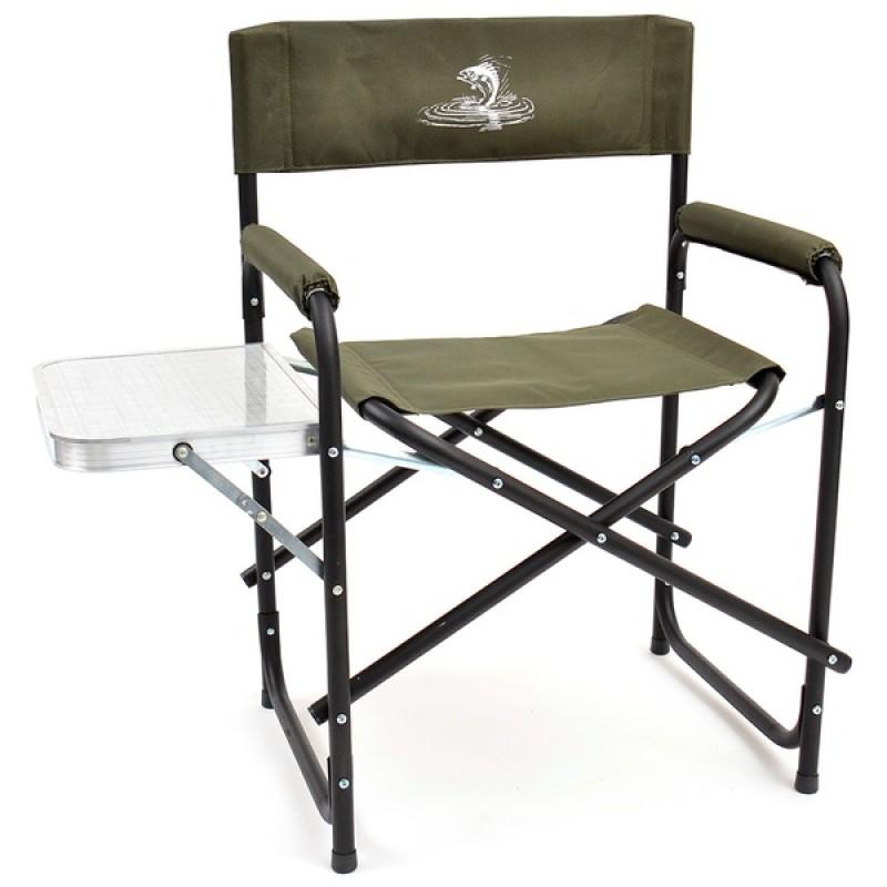 Кресло складное со столиком базовый вариант SK-04 (сталь, хаки)