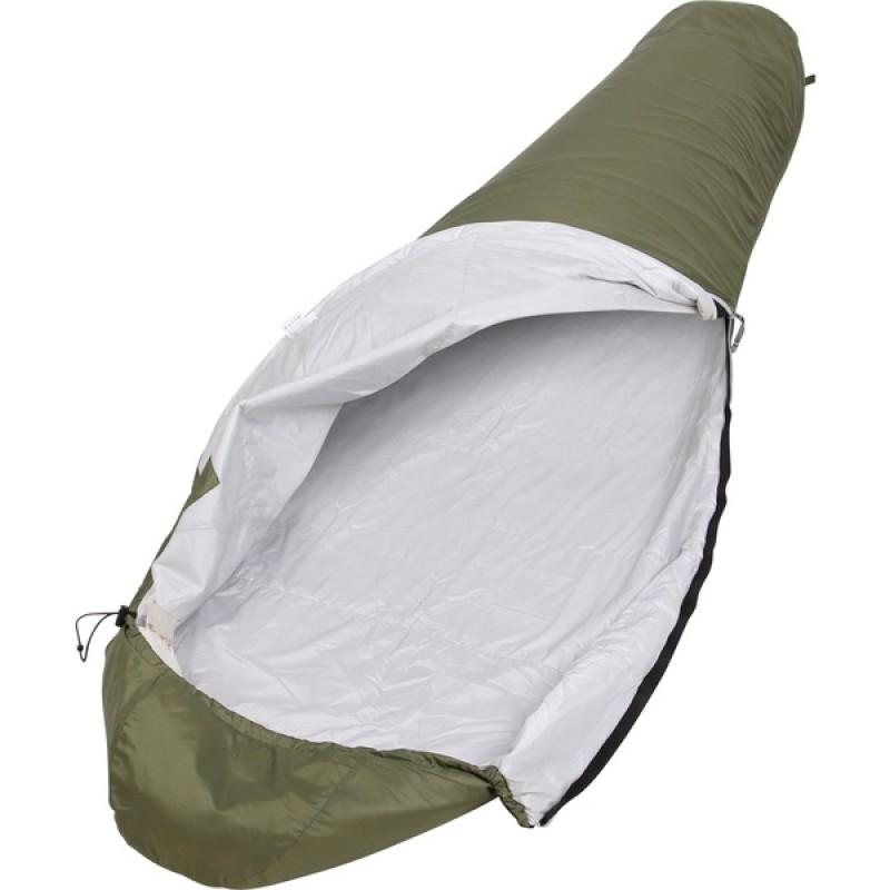 Спальный мешок СПЛАВ Mega Light 50 (зеленый, правый) 240 см