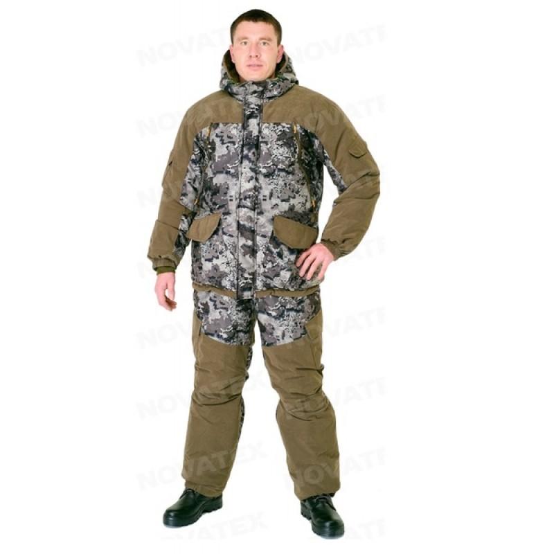Зимний костюм для охоты и рыбалки «Горка Зима» -45 (Алова, Коричневый тетрис) PRIDE (фото 2)
