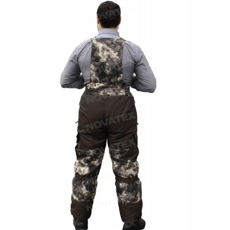 Зимний костюм для охоты и рыбалки «Горка Зима» -45 (Алова, Коричневый тетрис) PRIDE (фото 3)