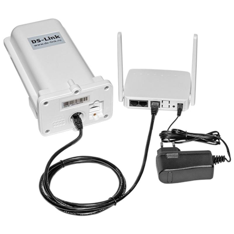 Уличный модем ДалСвязь DS-4G-5kit (LAN, Wi-Fi, кабель PoE 20м.) (+ Кронштейн в подарок!) (фото 2)