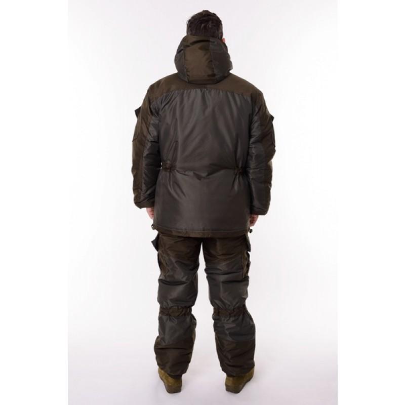 Зимний костюм для охоты и рыбалки ONERUS Горный -45 (Таслан, темный хаки) Полукомбинезон (фото 3)