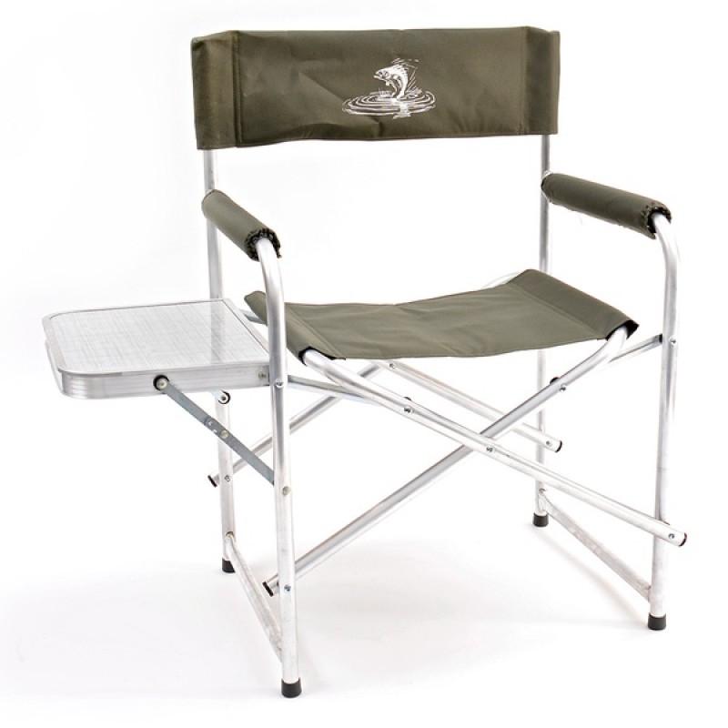 Кресло складное со столиком базовый вариант AKS-04 (алюминий, хаки)