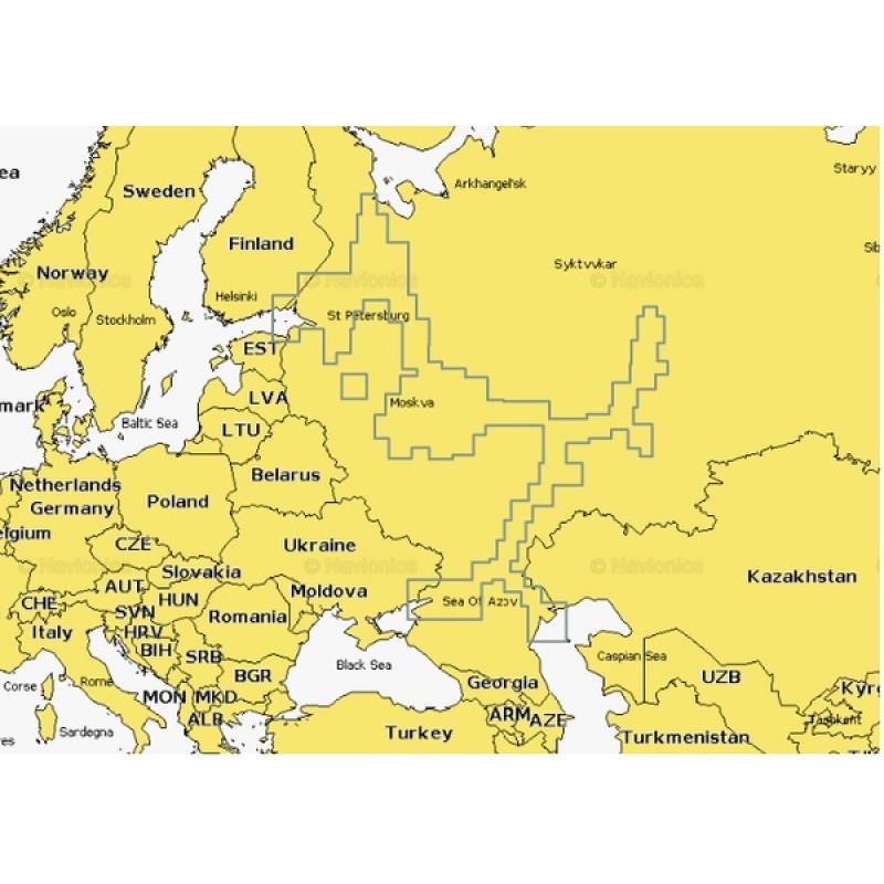 Карты Navionics 52XG Россия, Европейская часть 16Gb