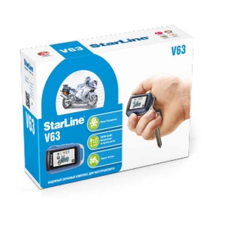 Автомобильная сигнализация Мотосигнализация StarLine V63 Moto