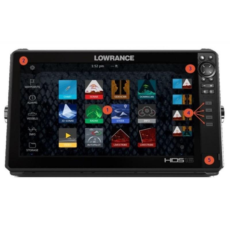 Картплоттер Lowrance HDS LIVE 16 без датчика (000-14433-001) (фото 2)