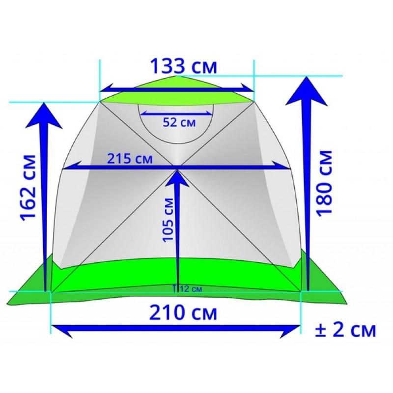 Зимняя палатка ЛОТОС Куб 3 Классик С9Т (оранжевый) (фото 2)