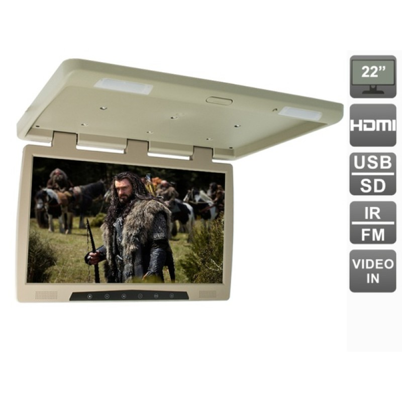 Потолочный монитор для автомобиля Потолочный монитор 22 AVEL AVS2220MPP (бежевый) (фото 2)