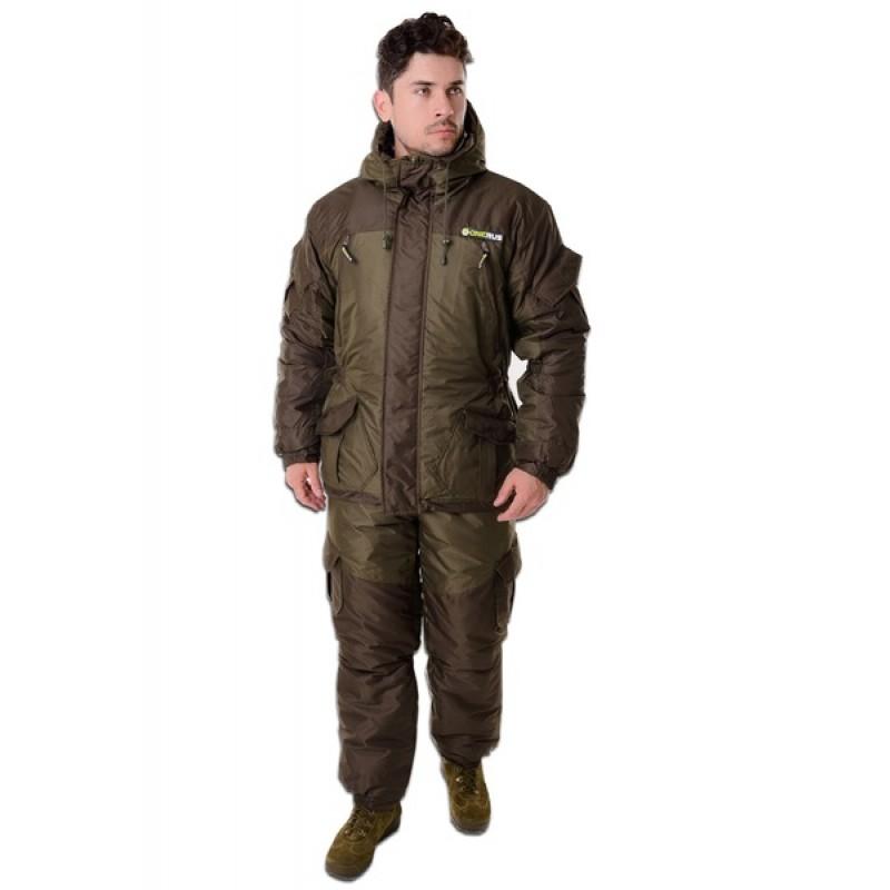 Зимний костюм для охоты и рыбалки ONERUS Горный -45 Таслан, зеленый/хаки