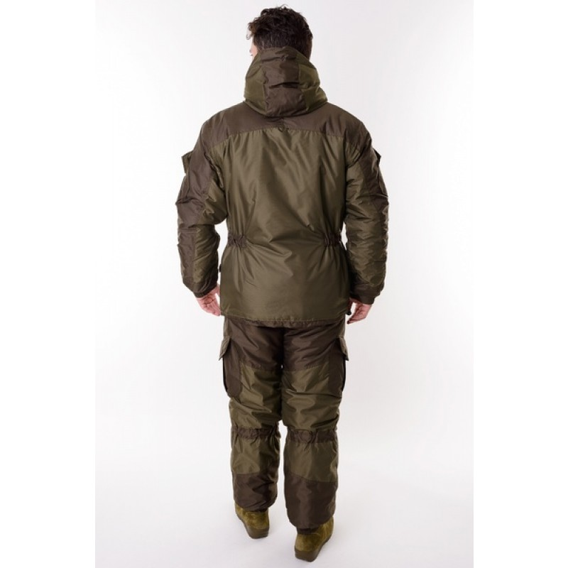 Зимний костюм для охоты и рыбалки ONERUS Горный -45 Таслан, зеленый/хаки (фото 3)