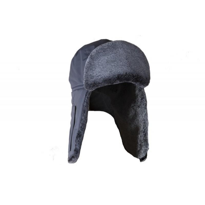 Шапка ушанка зимняя Huntsman Егерь Мутон (Серый, Breathable)