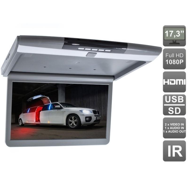 Потолочный монитор для автомобиля Потолочный монитор 17,3 AVEL AVS1717MPP (серый) (фото 2)