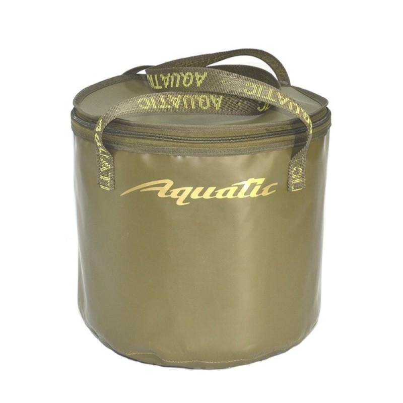 Ведро для замешивания прикормки Aquatic В-04 (30л. герметичное, с крышкой)